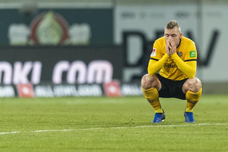Nach der 3:4 Niederlage gegen Bielefeld im Januar.