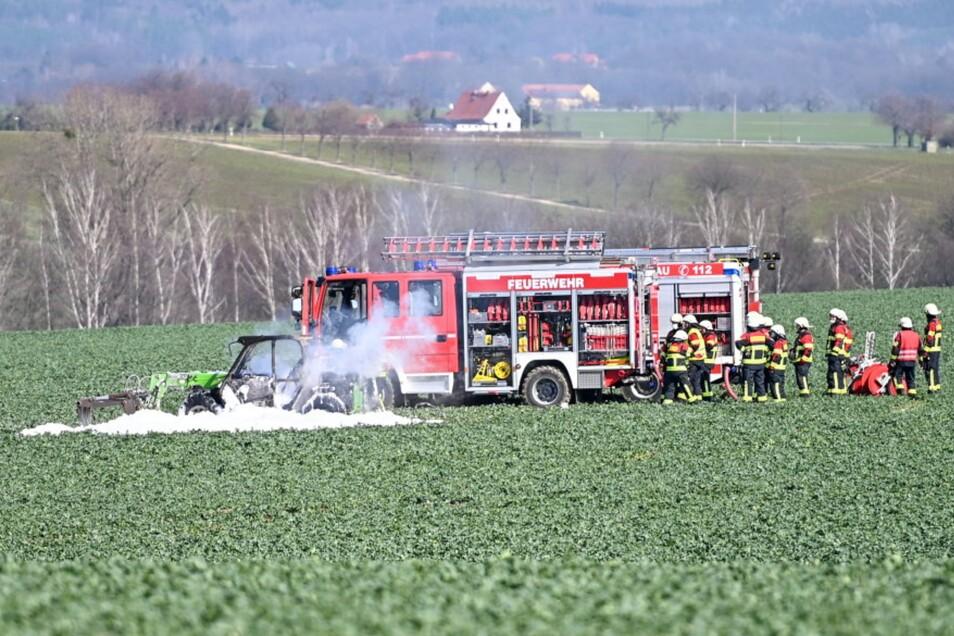 Die Feuerwehren aus Löbau und Kittlitz waren mit 14 Kameraden im Einsatz.