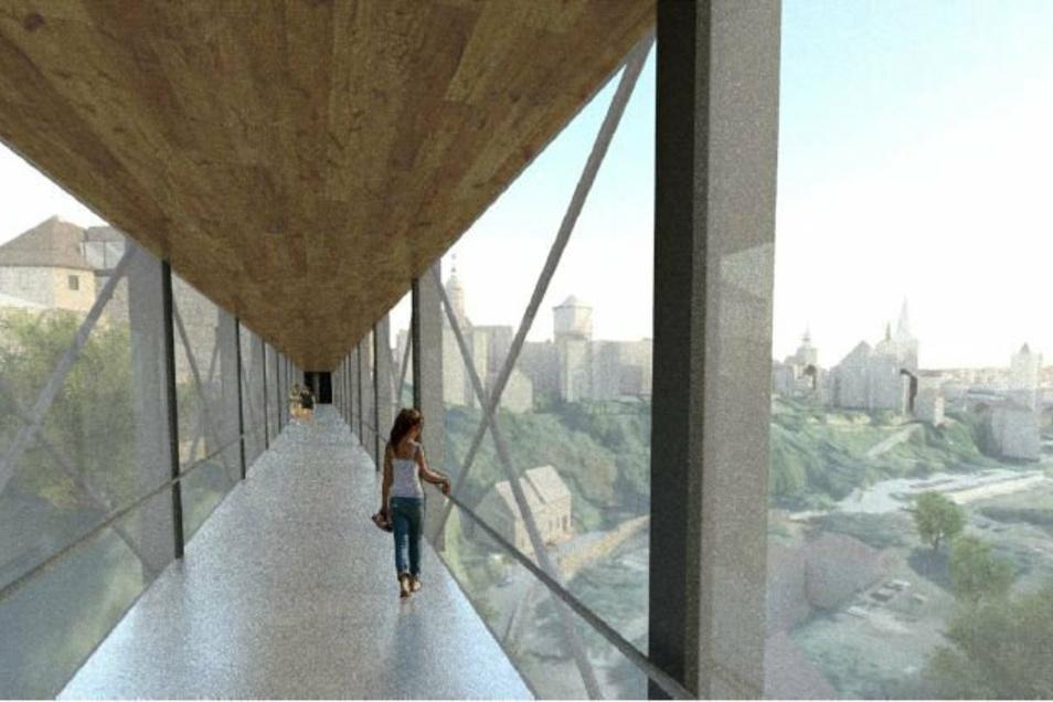 So könnte es in der unteren Etage der Brücke aussehen.