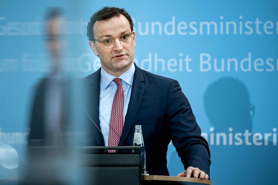 Bundesgesundheitsminister Jens Spahn äußerte sich bei einer Pressekonferenz zu Coronavirus-Mutationen und Schnelltests.