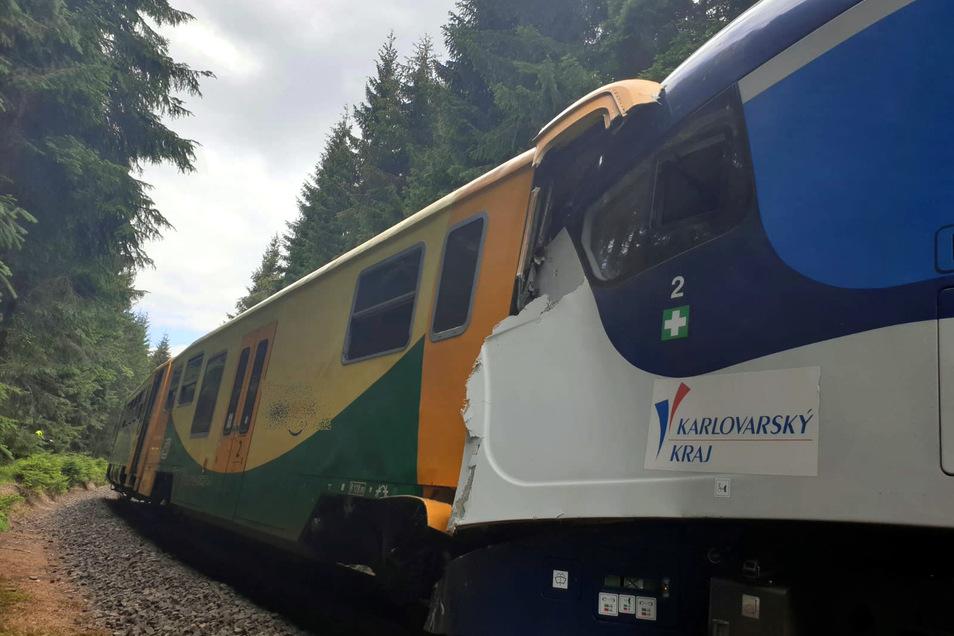 Am 7. Juli 2020 waren im tschechischen Erzgebirge zwei Triebwagen zusammengestoßen. Zwei Fahrgäste starben.