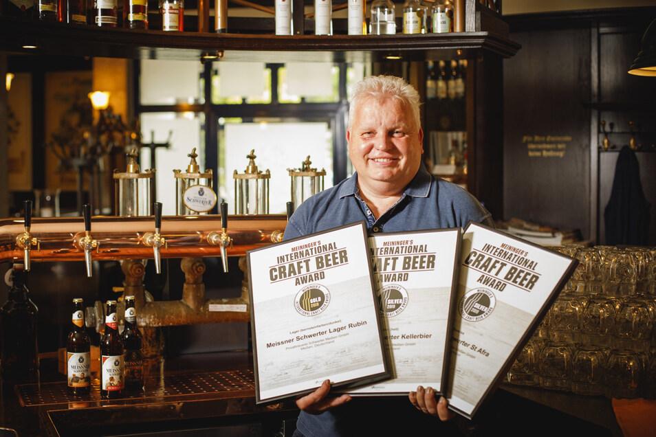 Bernd Heitmann ist der Braumeister der ältesten Privatbrauerei Sachsens. Er wird den Besuchern auf der Döbelner Biermesse die ausgezeichneten Biere und eine echte Rarität anbieten.