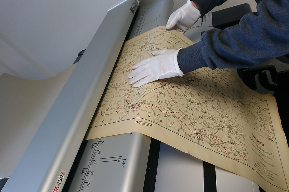 In den vergangenen Wochen wurde das gesamte Kartenmaterial des Stadtmuseums Hoyerswerda digitalisiert.
