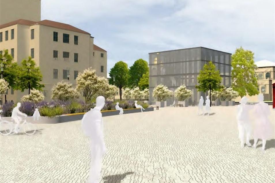 Zwischen Zwinger und Schauspielhaus gibt es auch Pläne für einen Kubus, in dem sächsische Erfindungen sowie Kunst ausgestellt werden.