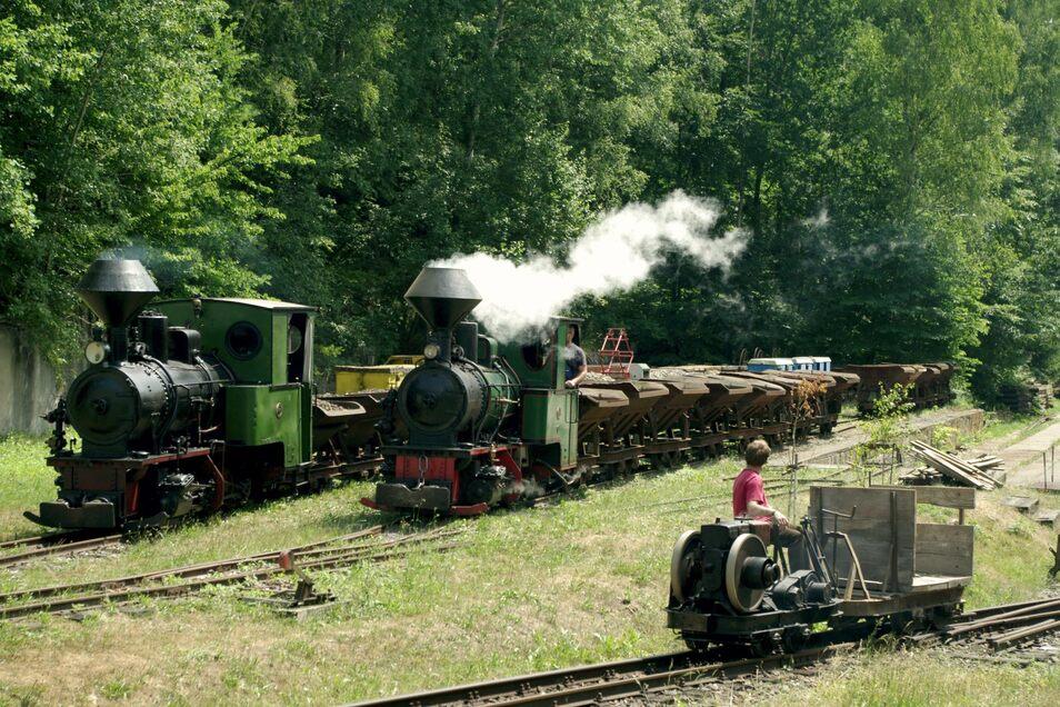 Im Feldbahnmuseum Herrenleite wird der Saisonabschluss auch mit Dampf gefeiert.