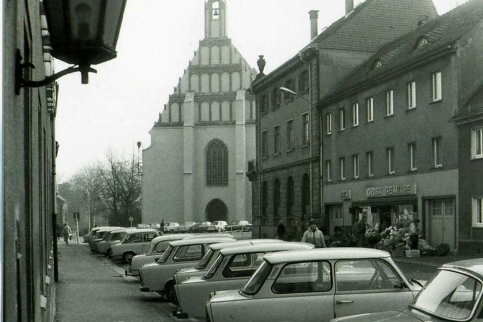 Die Weststraße mit Gemüseladen Mitte der 1980er-Jahre