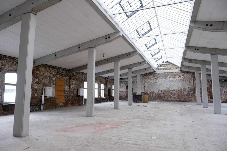 Dieser Raum im ersten Stock ist rund 500 Quadratmeter groß.