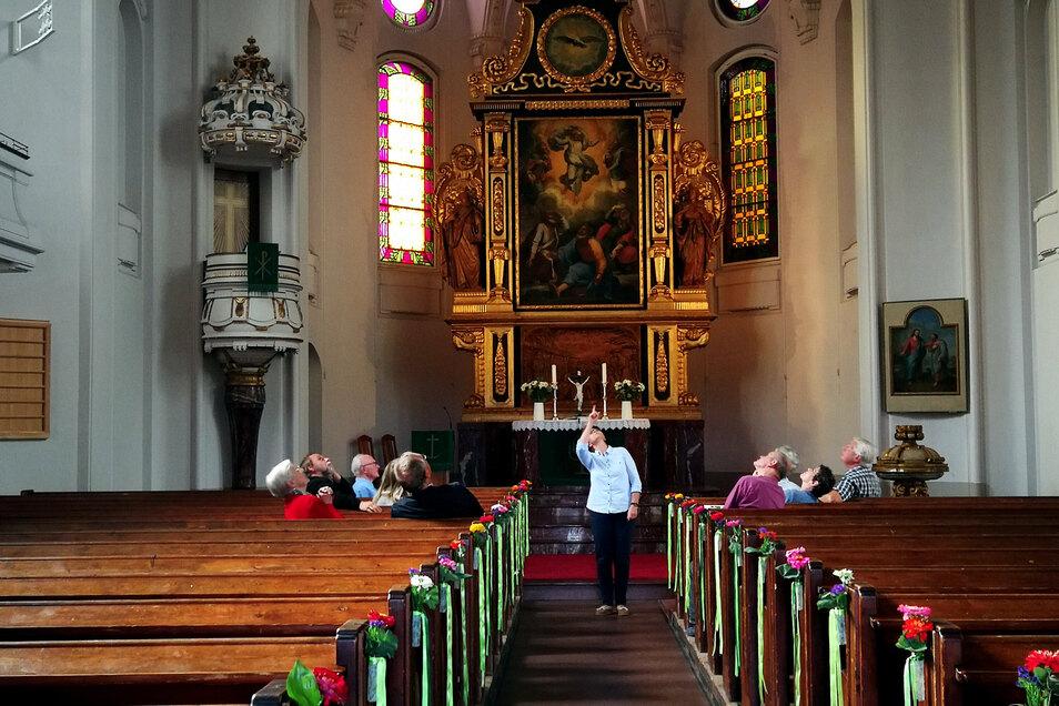 Trotz Corona gibt es auch in diesem Jahr wieder Führungen und weitere Angebote in den Kirchen in Moritzburg, Reichenberg und Radebeul. Die Aufnahme entstand im Vorjahr beim Tag des offenen Denkmals in Moritzburg.