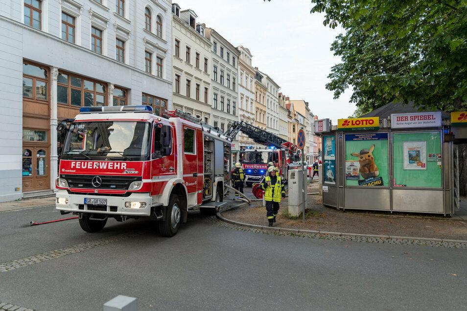 Die Feuerwehr rückte am Sonnabend zu einem Brand in der Elisabethstraße 3 in Görlitz aus.