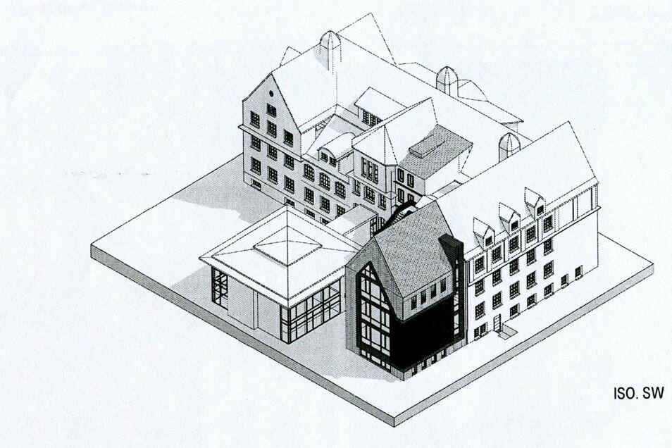 So könnte der Anbau der Wilsdruffer Oberschule aussehen. Vorgestellt wurde dieser Plan in einer der vergangenen Stadtratssitzungen.