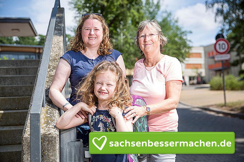 Können sorgenfrei in die Sommerferien gehen: die kleine Mariella, ihre Mutter Sandra und Oma Gerlinde.