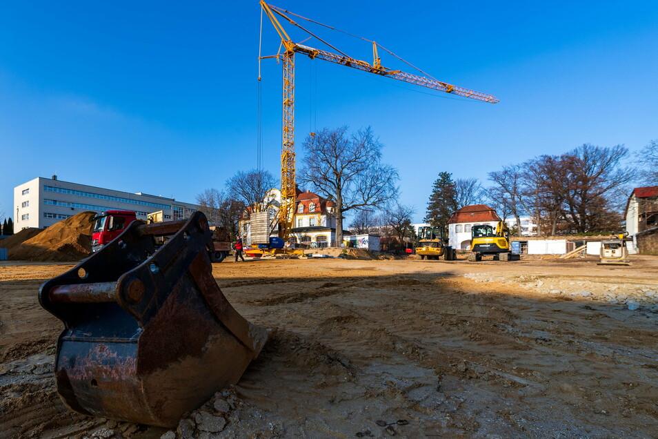 Die Bauarbeiten auf der Fläche an der Töpferstraße haben bereits begonnen.