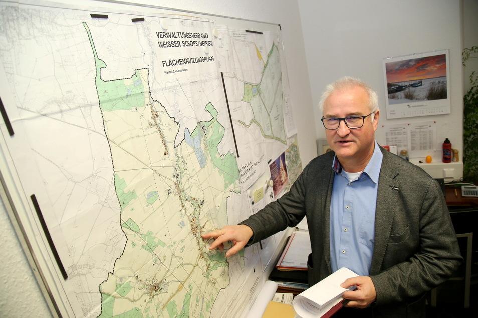 Kodersdorfs Bürgermeister René Schöne ist seit 2008 nur noch ehrenamtlich tätig. Das könnte sich nächstes Jahr ändern - wenn er bei der Wahl noch einmal antritt.