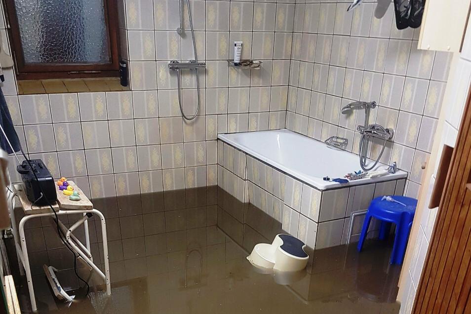 So sah es im Juli 2019 nach einem Starkregen im Keller eines Hauses in Klotzsche aus. Es gibt durchaus Möglichkeiten, solche Räume vor einer Überflutung zu schützen.