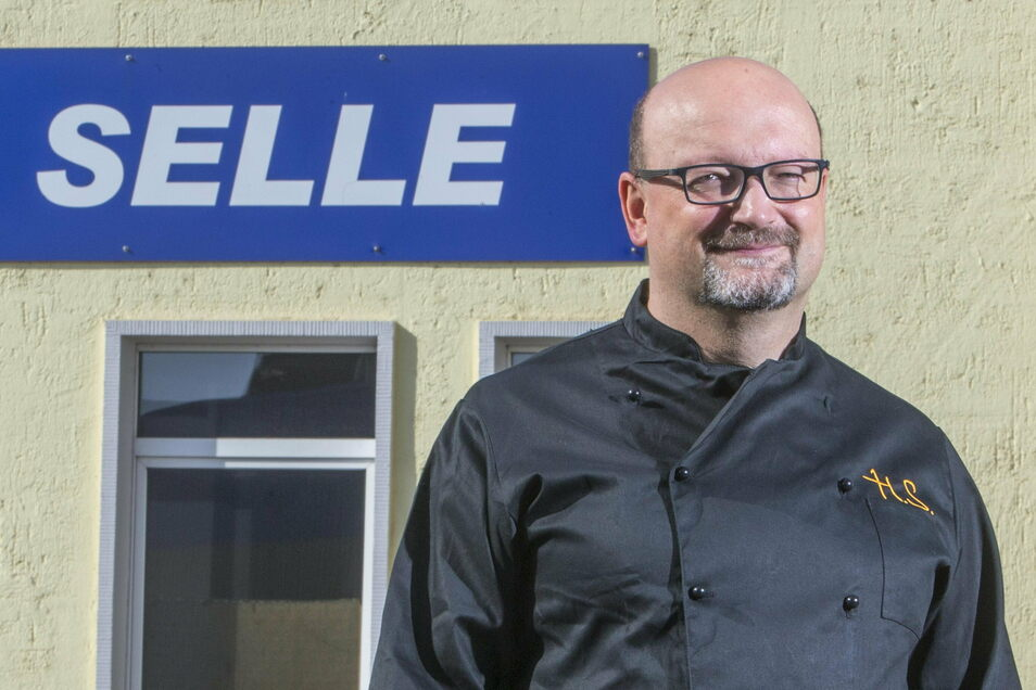 Holger Selle (47) ist Geschäftsführer der des Riesaer Unternehmens Gastroservice Selle. Es ist aus der einstigen Stahlwerks-Kantine hervorgegangen.