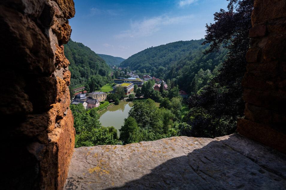 Die Burgruine Tharandt bietet einen wunderbaren Ausblick auf den Plauenschen Grund.