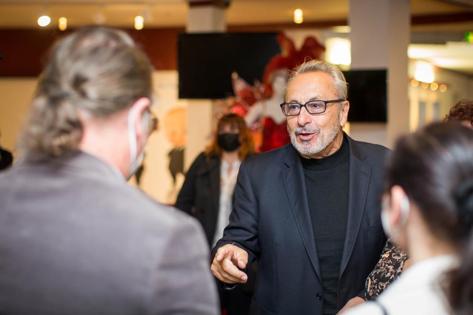 Bei der Vorpremiere seiner Elbe-Doku traf Wolfgang Stumph am Dienstag im Rundkino auf viele seiner Fans.