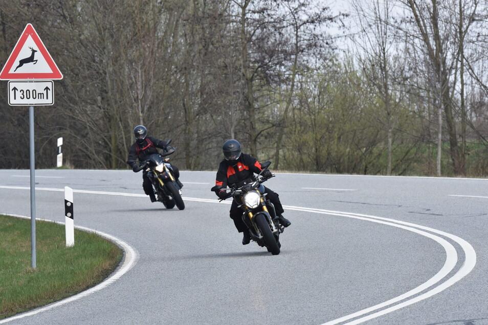 Für Motorräder zeitweise tabu: Die Serpentinen in Hohnstein.