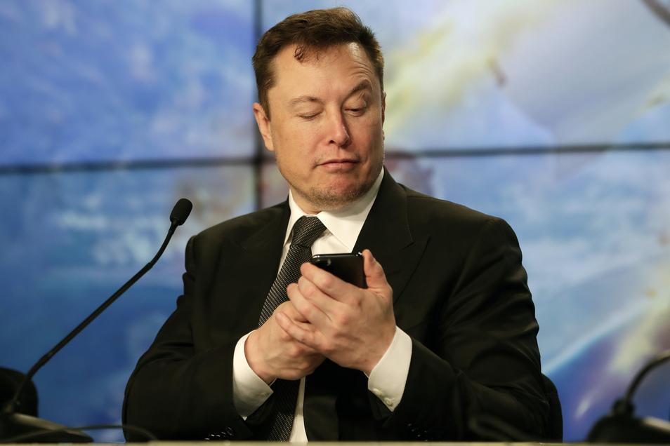 Elon Musk, Konzernchef des US-Elektroautohersteller Tesla und Gründer des privaten Raumfahrtunternehmens SpaceX.