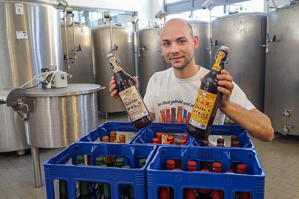 Tobias Frenzel, Chef der Bier-Manufaktur Frenzel-Bräu in Bautzen.