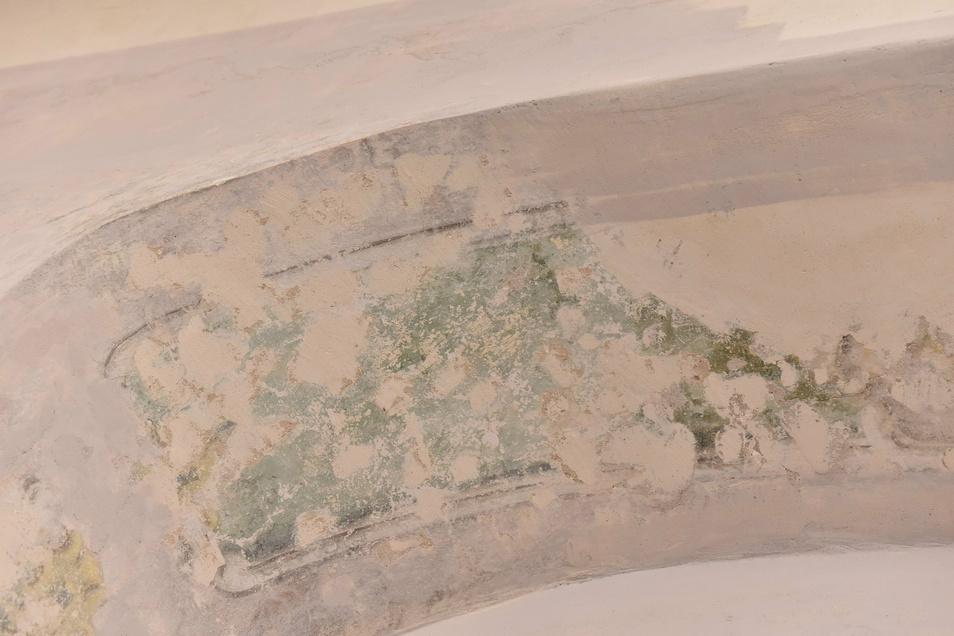 So sah die Rokokomalerei aus, nachdem sie freigelegt worden war.
