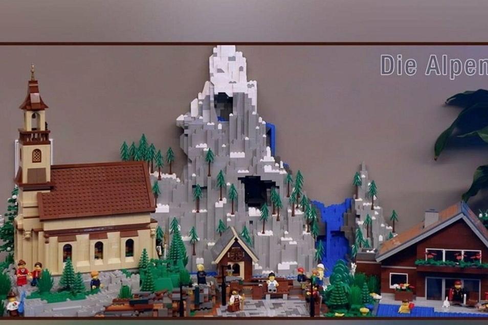 Mit diesem Legokunstwerk nehmen Bielers mit Nr. 43 als Wanderfreunde am Wettbewerb teil. Sie kamen schon unter die besten 100 Einsendungen.