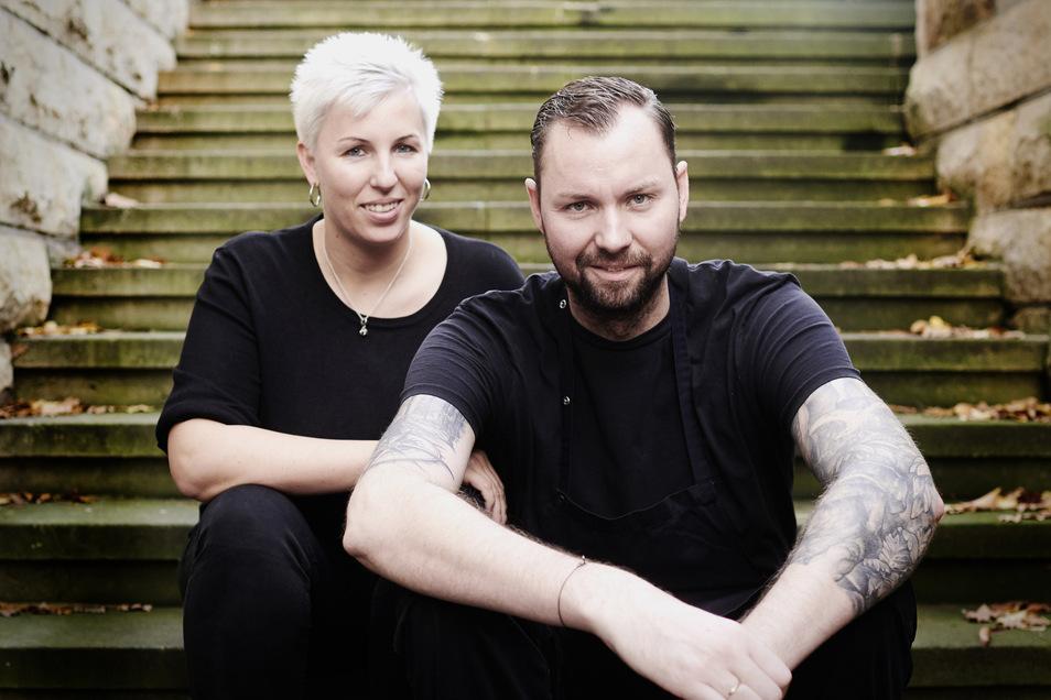 Nicole und Markus Blonkowski betreiben in Dresden das Sternerestaurant Genuss-Atelier. Über die bis jetzt ausgebliebene Novemberhilfe ärgern sich die beiden Gastronomen.