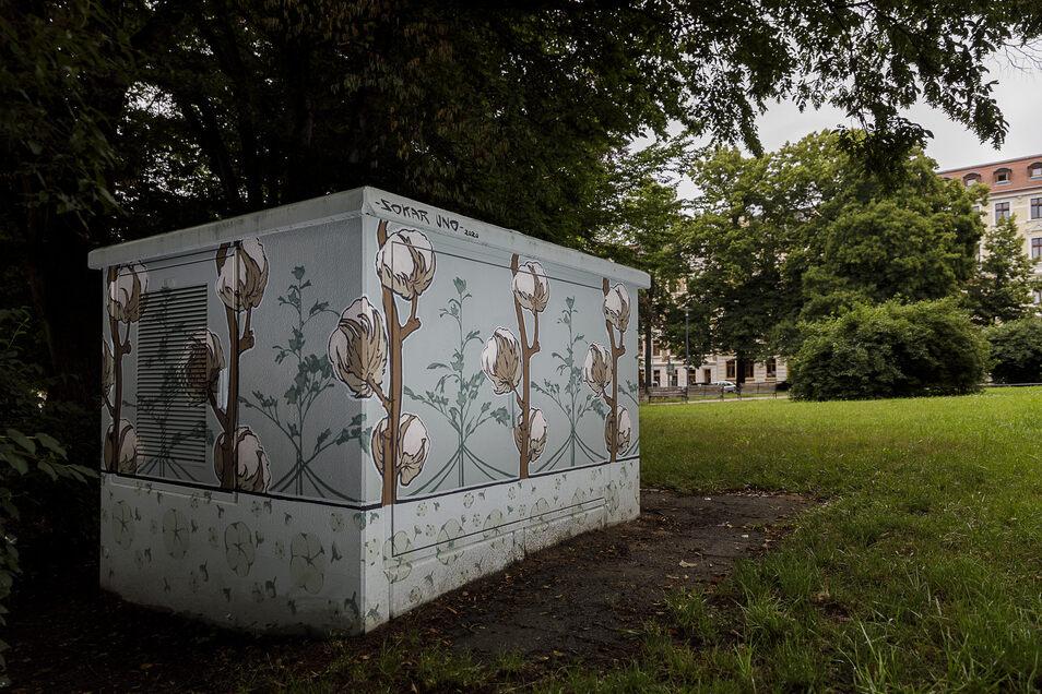 Am Sechsstädteplatz ist die Natur das Thema des Künstlers.