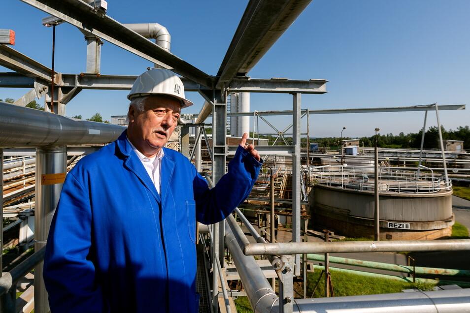 """""""Irgendwann wollen wir die Zelte abbrechen."""" Carsten Wedekind, 64, Wismut-Urgestein, leitet die Sanierung des Königsteiner Standorts."""