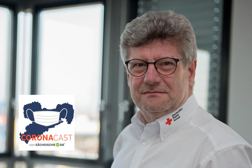 Rüdiger Unger, Vorstand des DRK-Landesverbandes Sachsen, ist Gesprächsgast im CoronaCast.