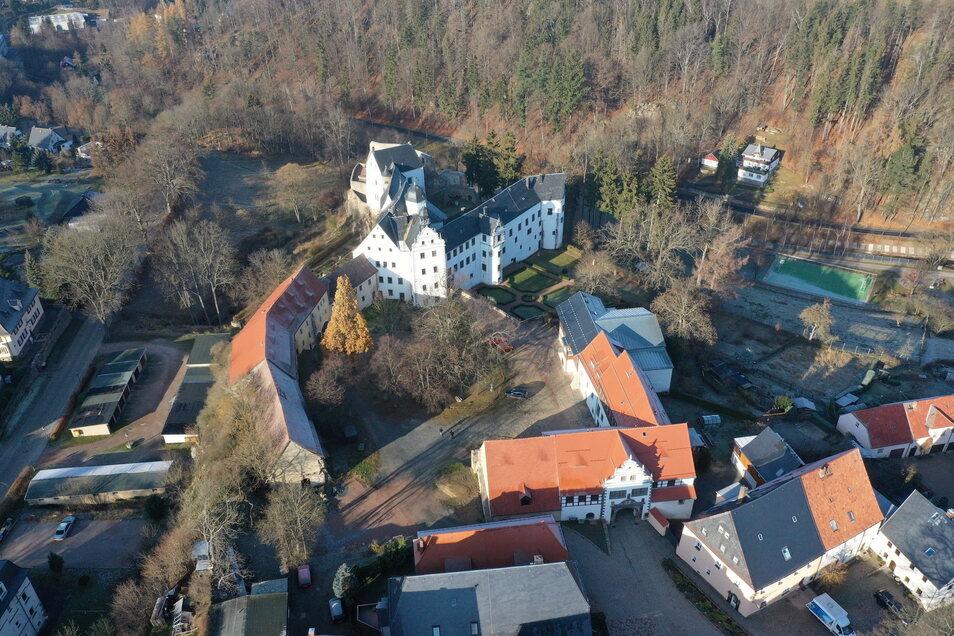 Das Schloss Lauenstein von oben und am 3. Juli ist auch wieder Konzertort.