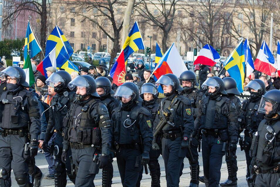 Einen Neonazi-Aufmarsch wie 2020 wird es nicht geben zum 13. Februar, aber rechte Provokationen und Protest.