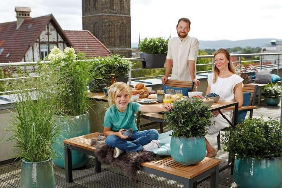 Für leckere Beeren ist überall Platz. Spezielle Blaubeerpflanzen etwa lassen sich auch in Blumenkübeln oder Balkonkästen pflanzen.