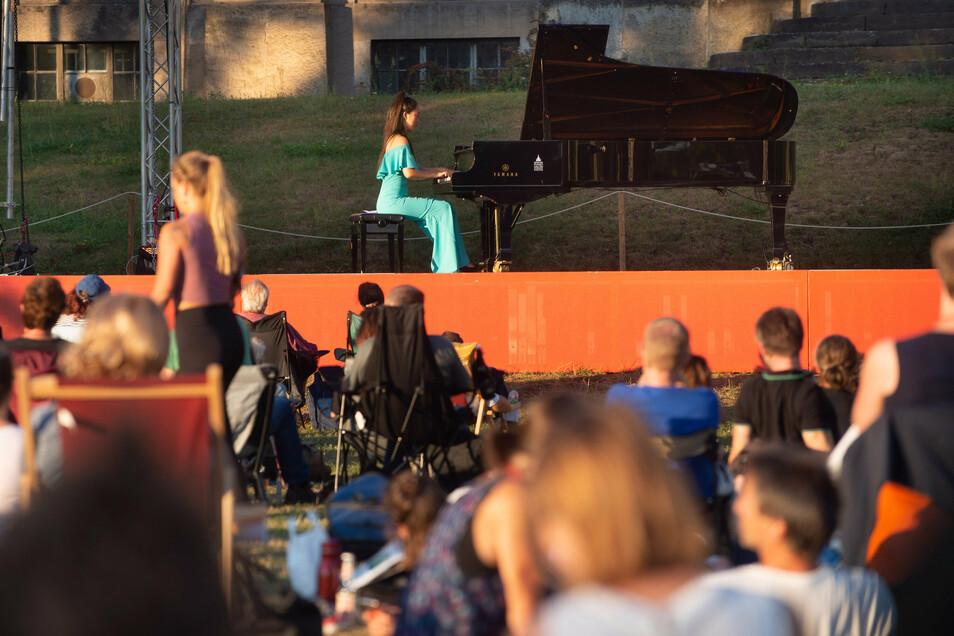 Die koreanische Pianistin Suryeon Noh verzauberte am Samstagabend die Besucher des Palaissommers.