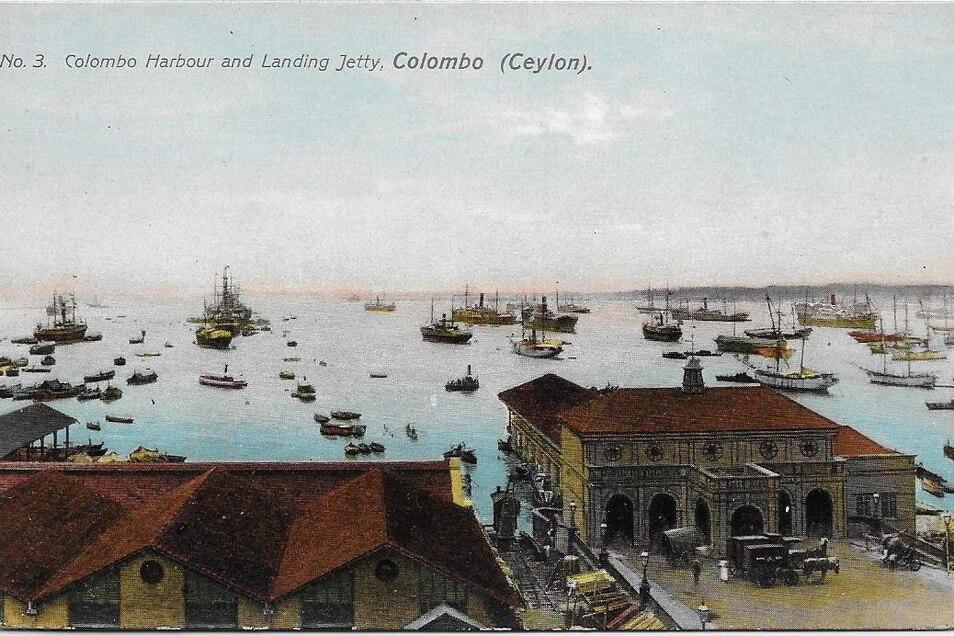 Der Hafen von Colombo auf Ceylon. Nach sechs Tagen im Indischen Ozean sieht Karl Kockisch hier erstmals wieder Land.