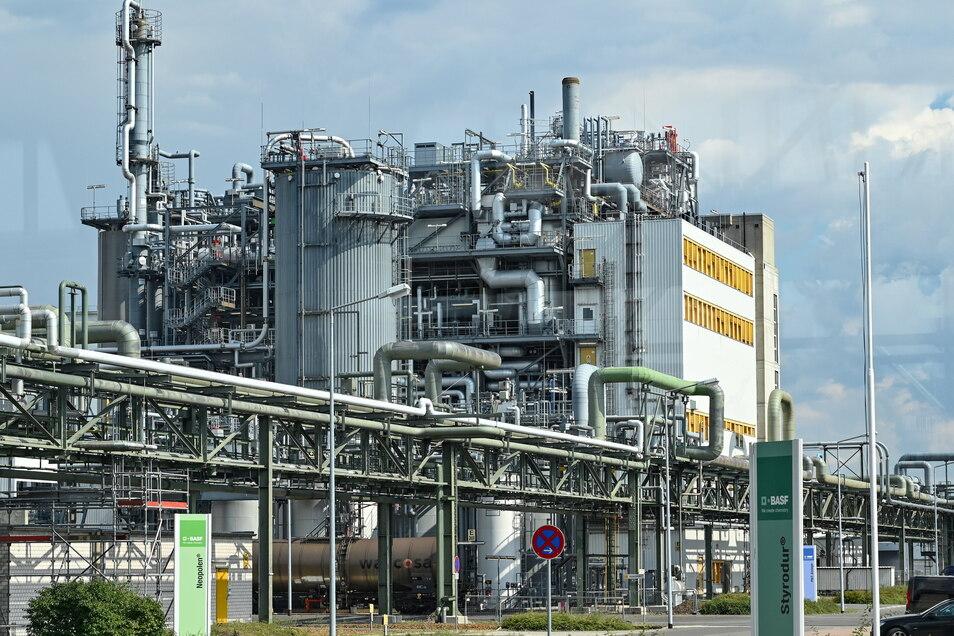 Industrieanlagen auf dem Gelände der BASF Schwarzheide GmbH. Von dort kommt ab 2022 Kathodenmaterial für die Batterien in E-Autos von Porsche.