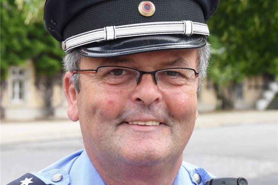 """Hermann Braunger, Riesaer Polizeichef: """"Auf null bekommt man die Kriminalität nicht. Nicht in einer Stadt, in der auch Menschen leben."""""""