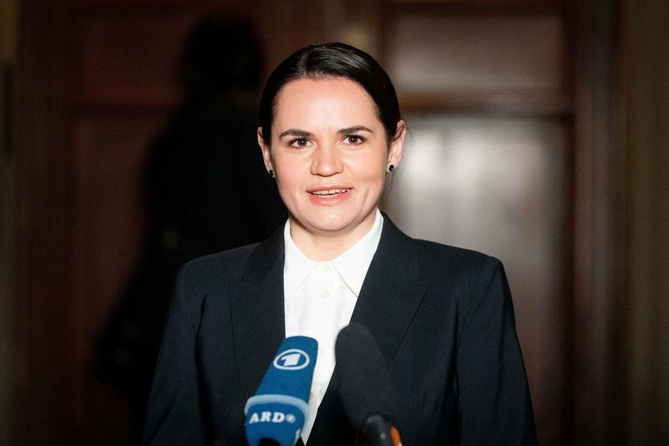 Swetlana Tichanowskaja, Oppositionsführerin aus Belarus.