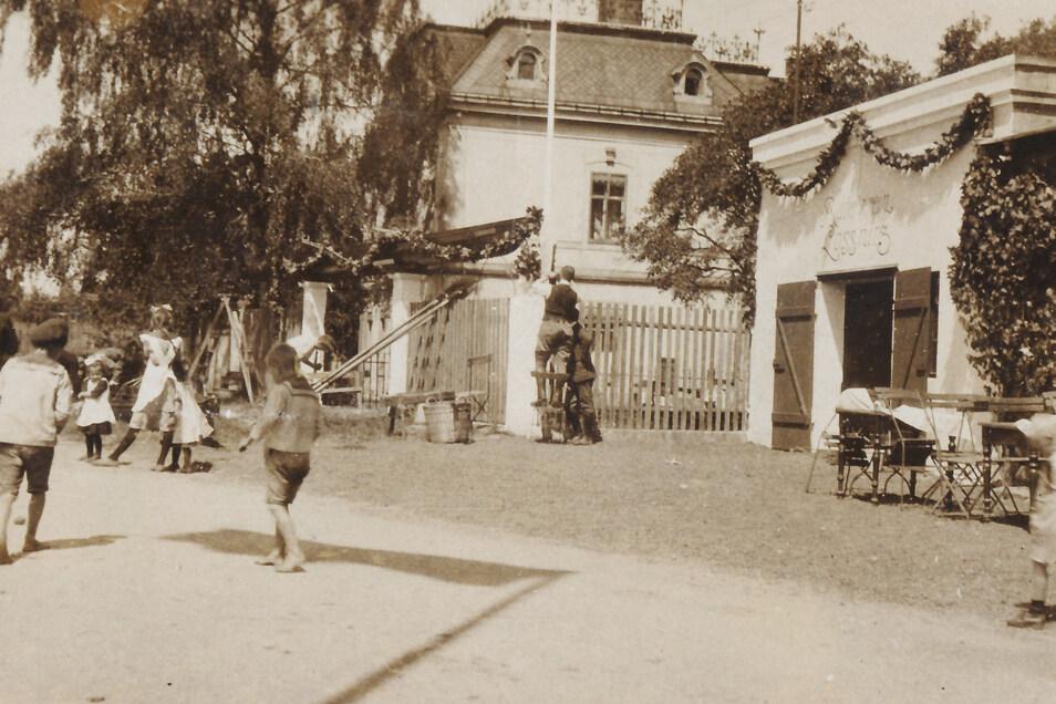 Das erste Bootshaus sah noch ganz anders aus.