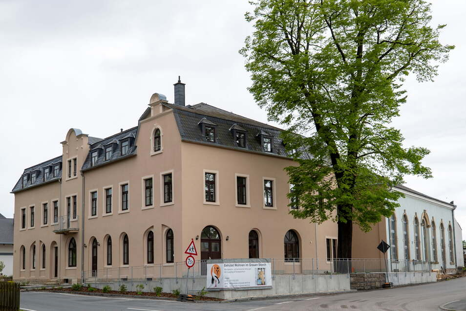 Im ehemaligen Gasthof Grauer Storch in Pirna-Mockethal ist Betreutes Wohnen entstanden.