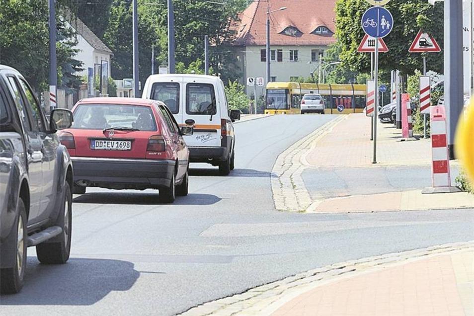 Meißner Straße/Hoflößnitzstraße in Radebeul