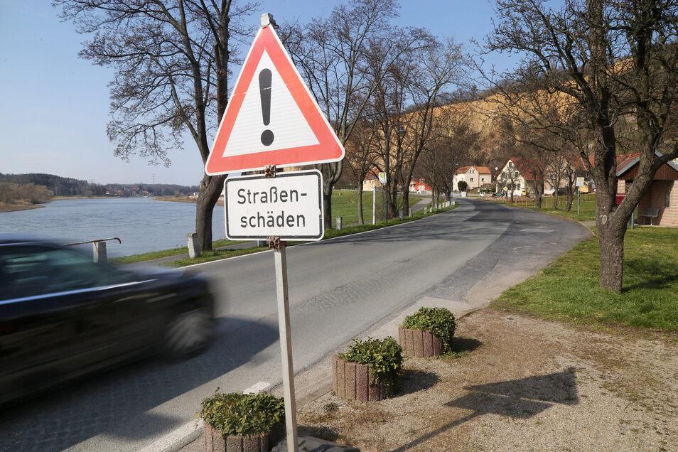 Ab Anfang April soll die Fahrbahn der S88 in Diesbar-Seußlitz saniert werden. Dann wird das Weindorf zur Baustelle.