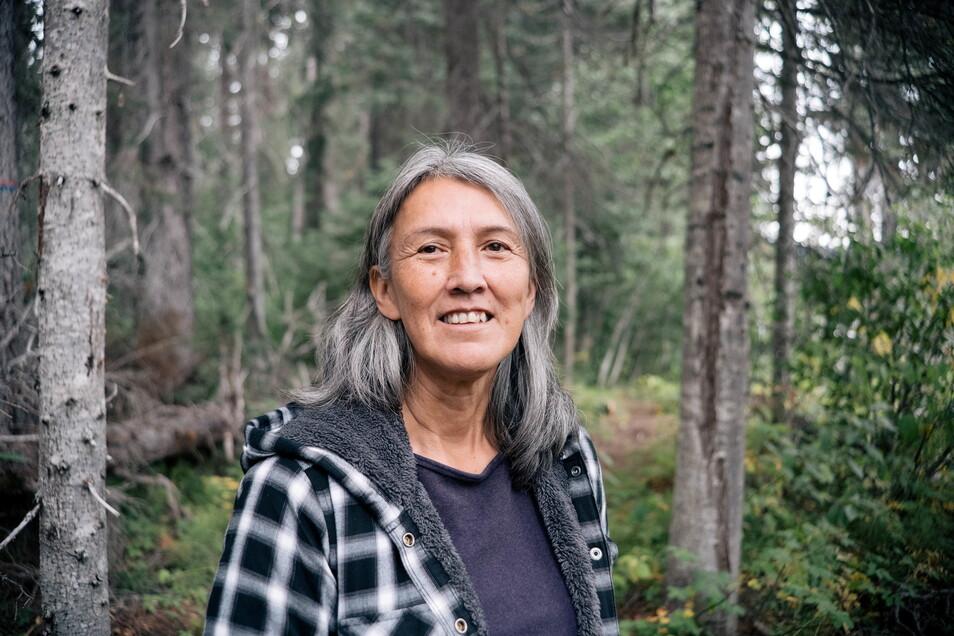 Freda Huson, eine kanadische Vorkämpferin für die Rechte von Ureinwohnern.