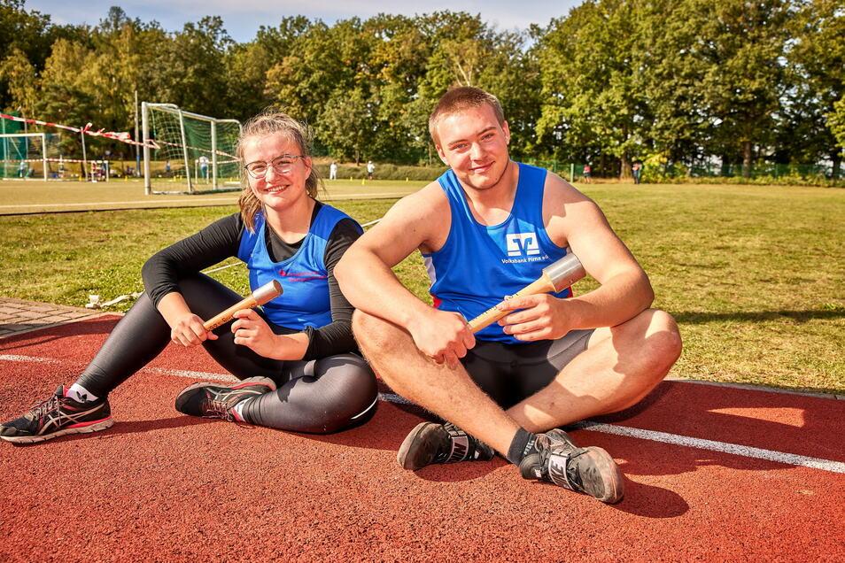Cosima Winter und Lukas Schober von der SG Weißig 1861 sind zwei der insgesamt 20 Weltrekordler des Vereins in ihren Altersklassen.