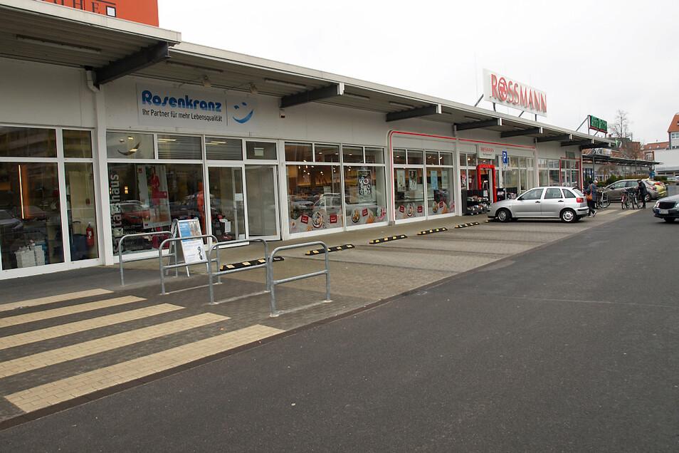 Die Saschowa-Wiese in Weißwasser: Nur zwei Läden sind geöffnet.