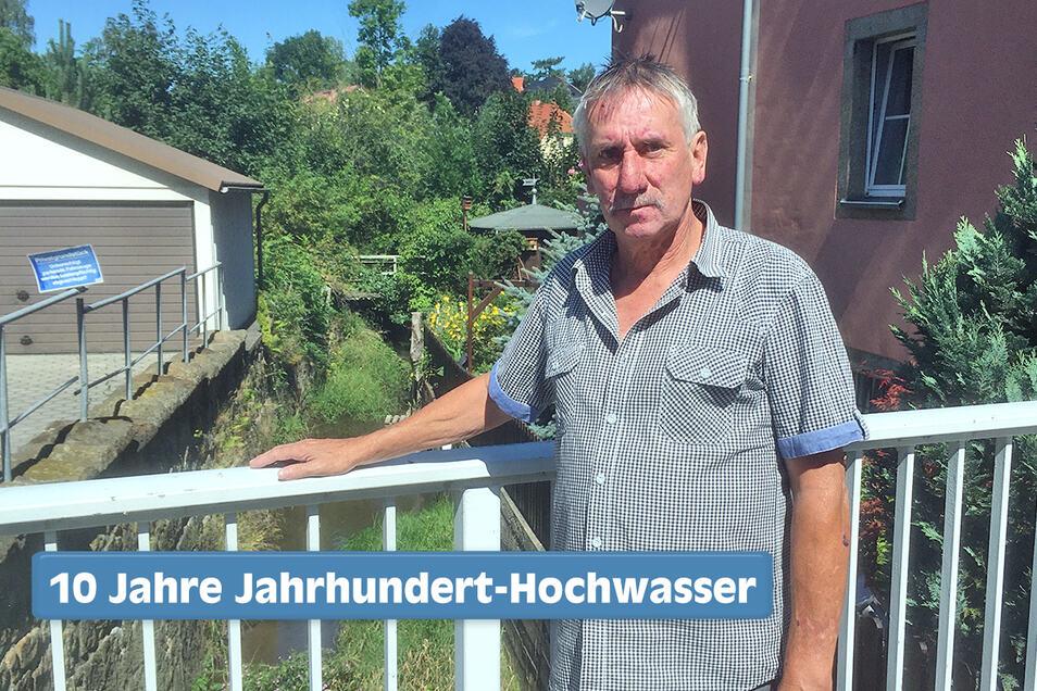Horst Schneider wohnt in Löbau direkt an der Seltenrein.