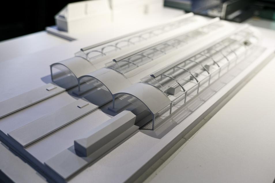 Dieses Modell der Bahnsteighalle im Bahnhof Görlitz war zum Internationalen Denkmaltag öffentlich zu besichtigen. Es zeigt die Bahnsteige 7 bis 12.