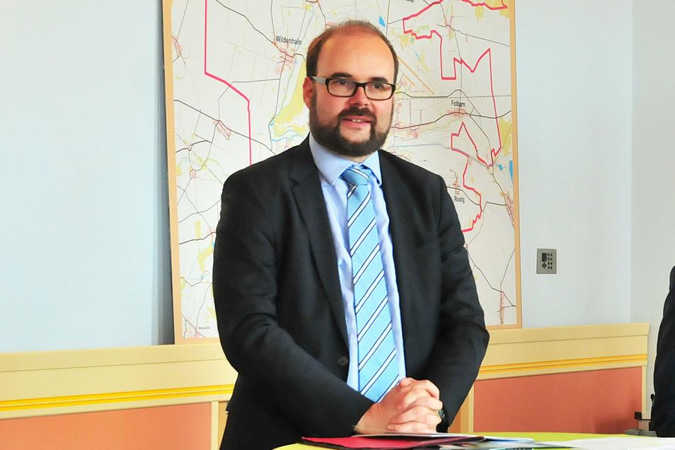 Sachsens Kultusminister Christian Piwarz weilte am Donnerstag zu einem Besuch im Großenhainer Rathaus.