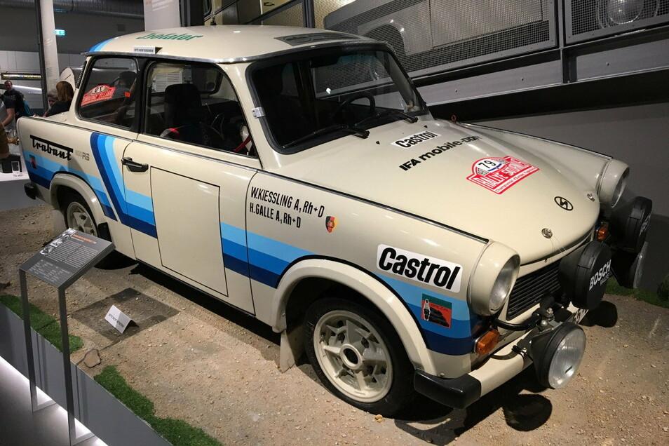 Ein erhaltenes Exemplar: Dieser Rallye-Trabant RS 800 steht im Zwickauer August-Horch-Museum.