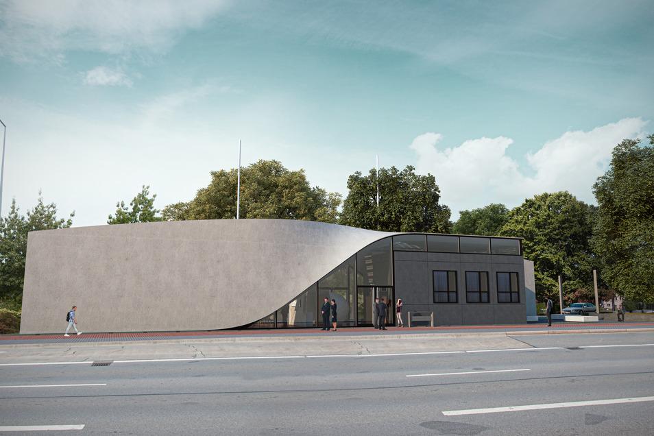 Der Cube ist das weltweit erste Carbonbeton-Haus. Er wird in Dresden gebaut.
